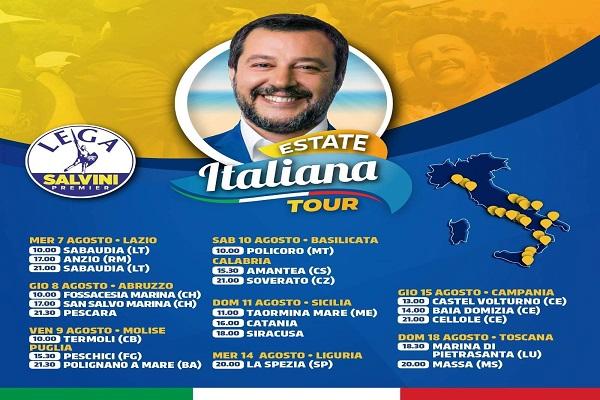 Matteo Salvini cambia programma: una delle tre tappe casertana è saltata - CasertaCE