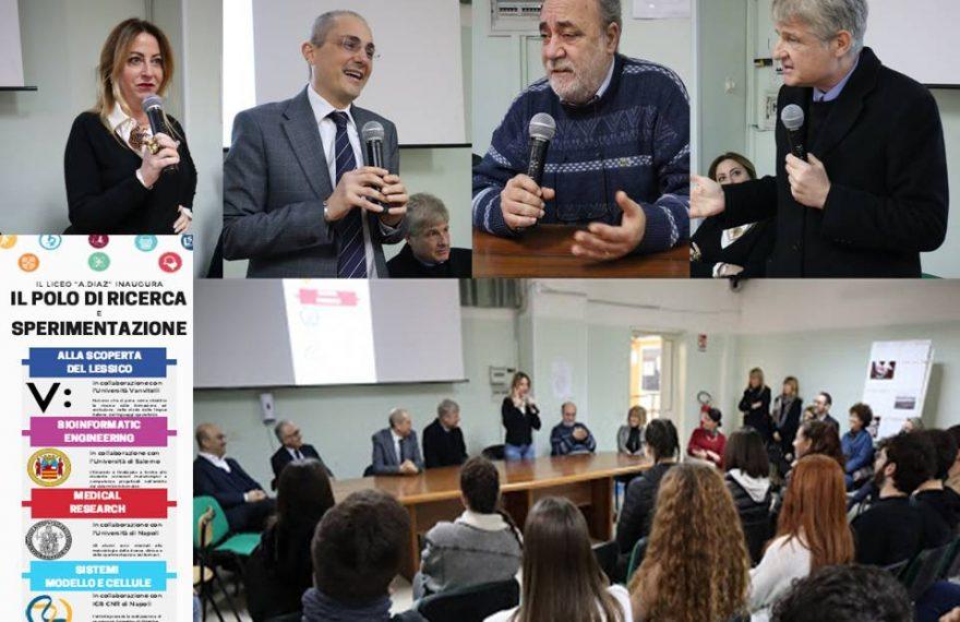 CASERTACE - LICEO DIAZ. Polo di ricerca e sperimentazione: al via gli stage degli alunni al Cnr, all'università Vanvitelli, alla Federico II e...